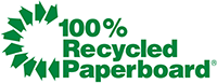 Green Recycled Paperboard Logo